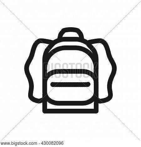 Rucksack. Knapsack. Schoolbag. Sack Icon. Rucksack Line Icon.