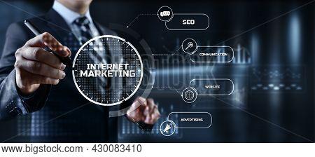 Internet Online Digital Marketing Smm Seo Business Technology Concept