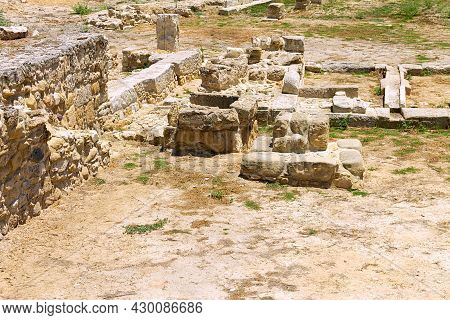 Cyprus, Larnaca -28 June 2021. A Complex Of Sacred Places In The Ancient City Of Kition. The Image S