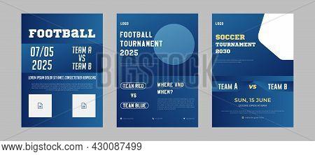 Sports Event Flyer Design Idea Sample. Soccer Tournament Flyer Design. Football Event Poster Leaflet