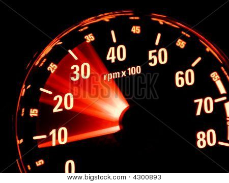 Tachometer At Work
