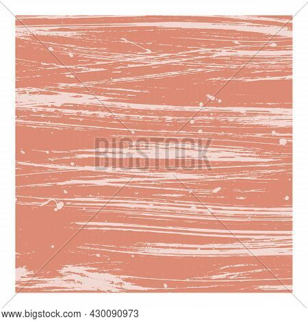 Abstract Watercolor Background With Paint Texture. Terracotta Matte Surface With The Effect Of White