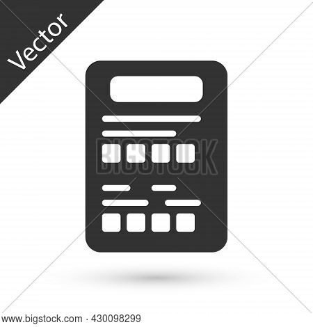 Grey Exam Sheet Icon Isolated On White Background. Test Paper, Exam, Or Survey Concept. School Test