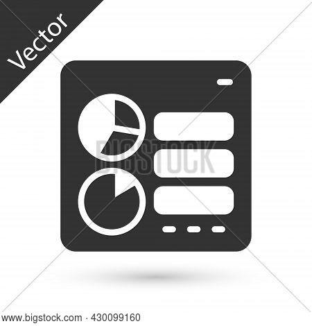 Grey Computer Api Interface Icon Isolated On White Background. Application Programming Interface Api