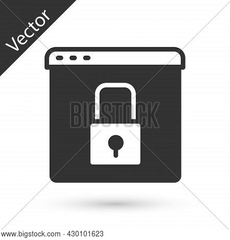 Grey Secure Your Site With Https, Ssl Icon Isolated On White Background. Internet Communication Prot