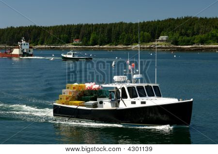 Lobster Boat Heading Out