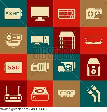 Set Lan Cable Network Internet, Uninterruptible Power Supply, Laptop, Keyboard, Computer Monitor, We