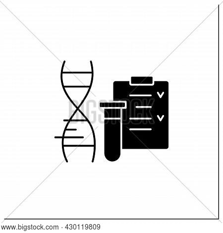Gmo Test Glyph Icon.screening.absence Or Presence Of Genetically Modified Plant Material. Checking D