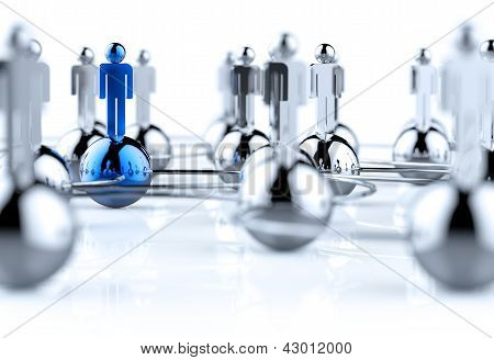 3D Stainless Human Social Network