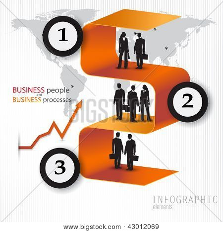 Modern design banners with business people. Vector template for infographics