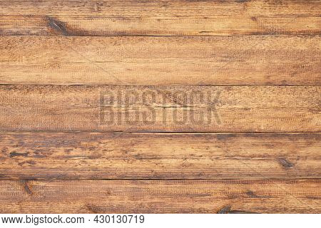 Wood Texture. Vintage Wood Table. Wood Wall From Old Boards As Background.