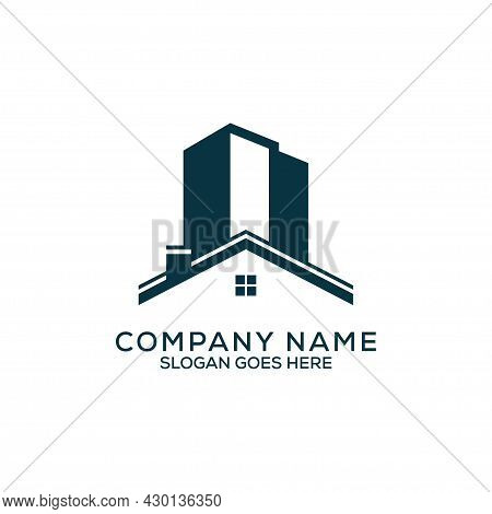 Luxury Construction Building Logo Design, Letter N Apartment Real Estate Vector, Can Be Used As Symb