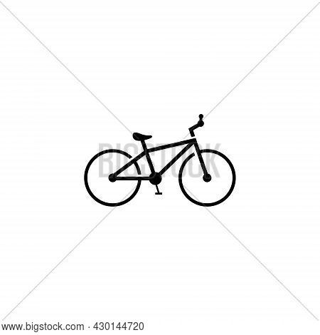 Bicycle Icon Vector Illustration Logo On White Background. Bicycle Logo. Bicycle Design