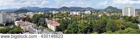 Abano Terme - Padova, Italy - August 17, 2021: Panorama View Of Abano Terme. Colli Euganei (euganean