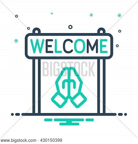 Mix Icon For Welcome Acceptance Reception Praise Compliment Acclamation Greeting Reception