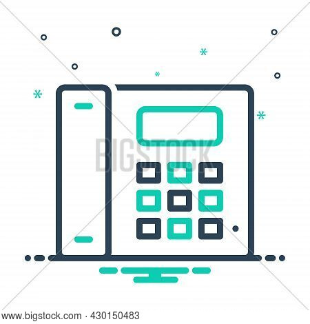 Mix Icon For Telephone Cellular Landline Gadget Device Communication Phone Call Talk Contact Connect