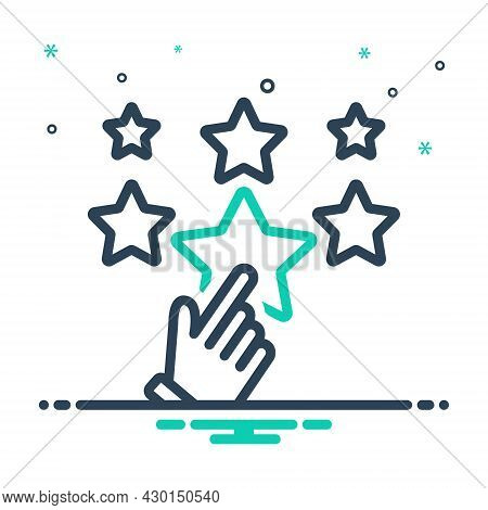 Mix Icon For Favor Support Choose Rating Star Best Valuation Favorite Feedback Review Like Satisfact