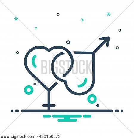 Mix Icon For Married Marital Gender Relationship Sexual Wed Get-married Marry Pair-off