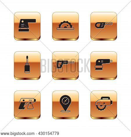 Set Electric Sander, Paint Spray Gun, Circular Saw Blade, Reciprocating, Screwdriver, Circular And I