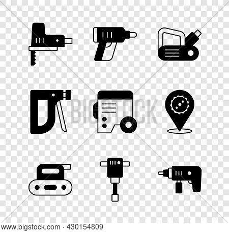 Set Electric Jigsaw, Cordless Screwdriver, Planer Tool, Construction Jackhammer, Drill Machine, Stap