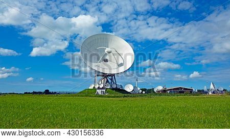 Large dish receivers for satellite communication in Burum The Netherlands