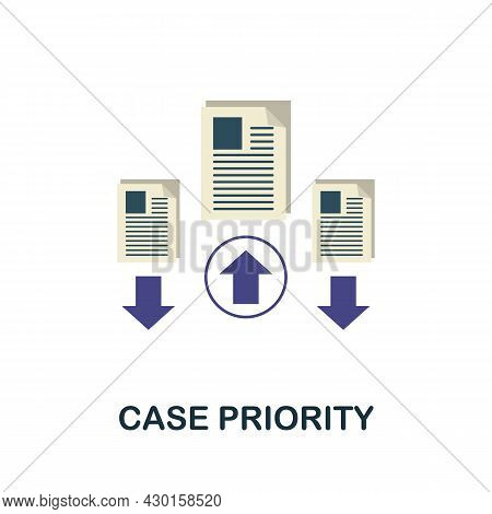 Case Priority Flat Icon. Colored Sign From Customer Service Collection. Creative Case Priority Icon