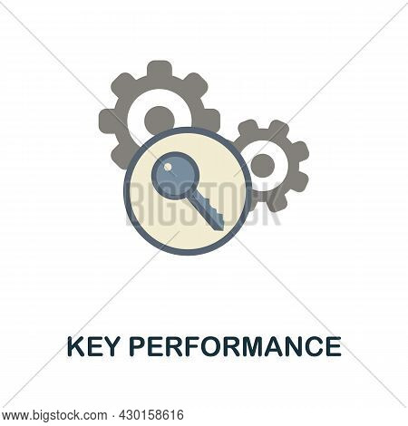 Key Performance Flat Icon. Colored Sign From Customer Service Collection. Creative Key Performance I