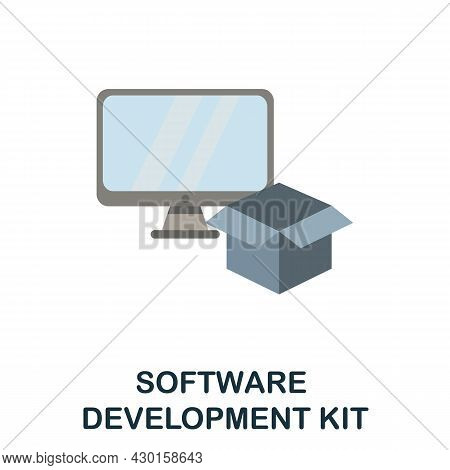 Software Development Kit Flat Icon. Colored Sign From Customer Service Collection. Creative Software