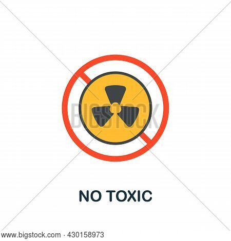 No Toxic Icon. Flat Sign Element From Eco Friendly Product Collection. Creative No Toxic Icon For We
