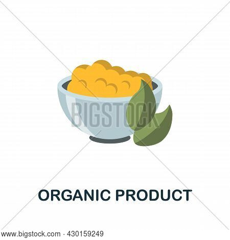 Organic Product Icon. Flat Sign Element From Eco Friendly Product Collection. Creative Organic Produ