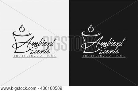 Ambient Scent Aromatherapy Logo Design. Graphic Design Element.