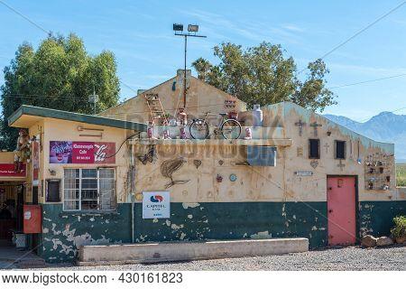 Klaas Voogdsrivier, South Africa - April 8, 2021: A Supermarket And Postal Agency At Klaas Voogdsriv
