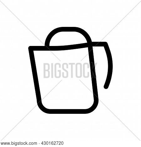 Electric Kettle Vector Icon. Electric Kettle Line Icon.