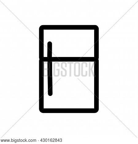 Fridge Isolated Vector Icon. Fridge Line Icon.