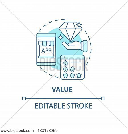 Product Value Concept Icon. Ux Principle Abstract Idea Thin Line Illustration. Competitive Edge. Mee