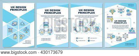 Ux Design Principles Brochure Template. Create Attractive Interface. Flyer, Booklet, Leaflet Print,