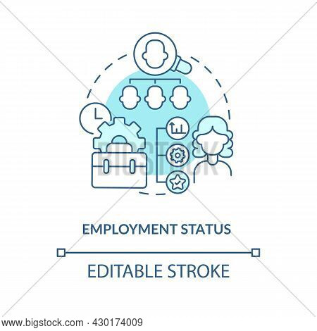 Employment Status Blue Concept Icon . Employer Abstract Idea Thin Line Illustration. Work Under Cont