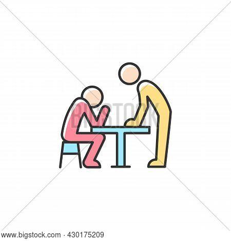 Body Language Rgb Color Icon. Nonverbal Communication. Physical Behavior. Wordless Signals. Communic