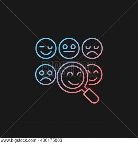 Reading Emotions Gradient Vector Icon For Dark Theme. Face-to-face Communication. Non-verbal Cues. E