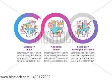 Maternity Leave Types Vector Infographic Template. Presentation Outline Design Elements. Data Visual