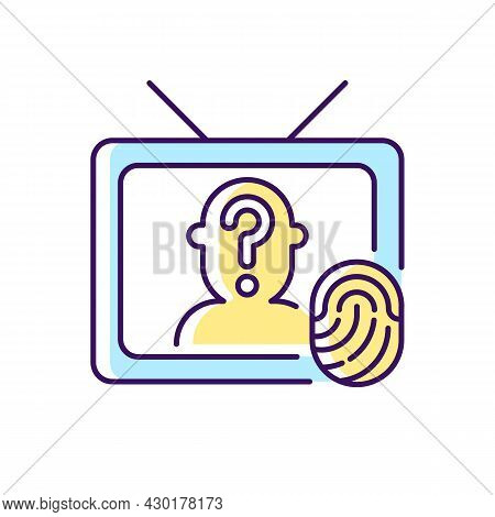 Online Investigation Show Rgb Color Icon. True Crime Series. Suspense And Thriller Cinema Genre On T