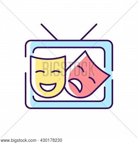 Tv Drama Rgb Color Icon. Theatrical Performance Translation On Display. Comedy Acting. Television Pr