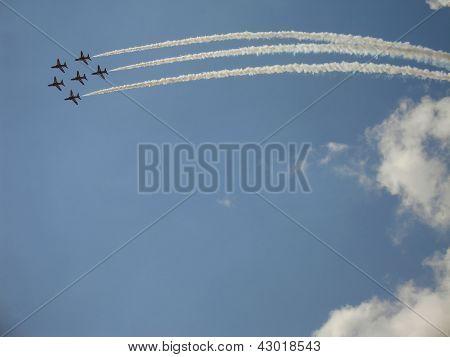Red Arrows On Hawk T1 Figure