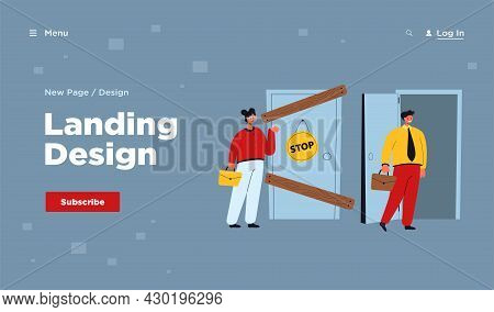 Man And Woman Having Different Business Possibilities Isolated Flat Vector Illustration. Cartoon Lad
