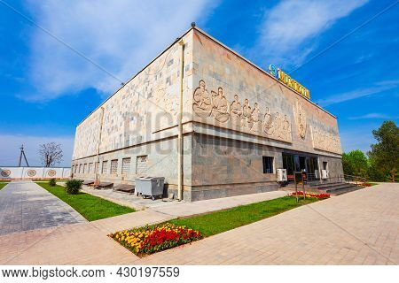 Samarkand, Uzbekistan - April 17, 2021: Afrasiab Museum Of Samarkand Is A Museum Located At The Hist