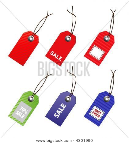 Collection Of  Price Tag For Marketing Design.