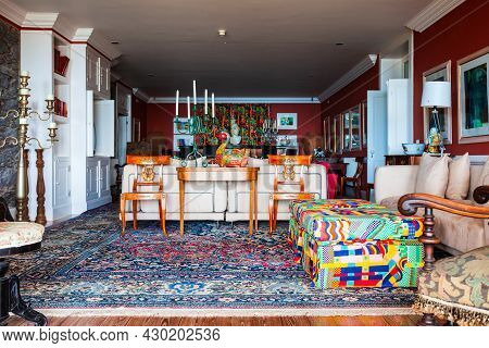 Funchal, Madeira - July 04, 2014: Monte Palace Interior In Madeira Island In Portugal