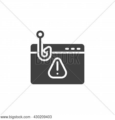 Phishing Website Vector Icon. Filled Flat Sign For Mobile Concept And Web Design. Hacking Webpage Gl