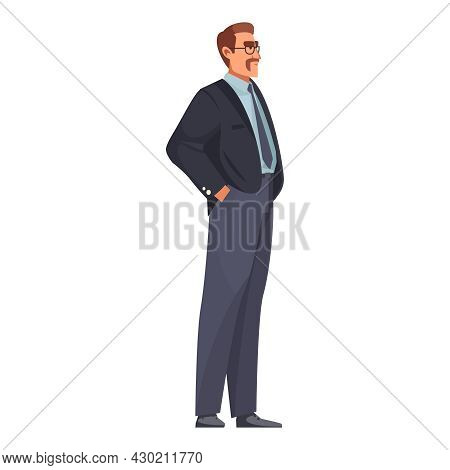 Law Justice Composition With Doodle Male Character Of Attorney Vector Illustration