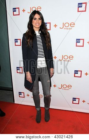 LOS ANGELES - MAR 7:  Nikki Reed arrives at the introduction of Joe Fresh at JCP at the Joe Fresh at JCP Pop Up Store on March 7, 2013 in Los Angeles, CA